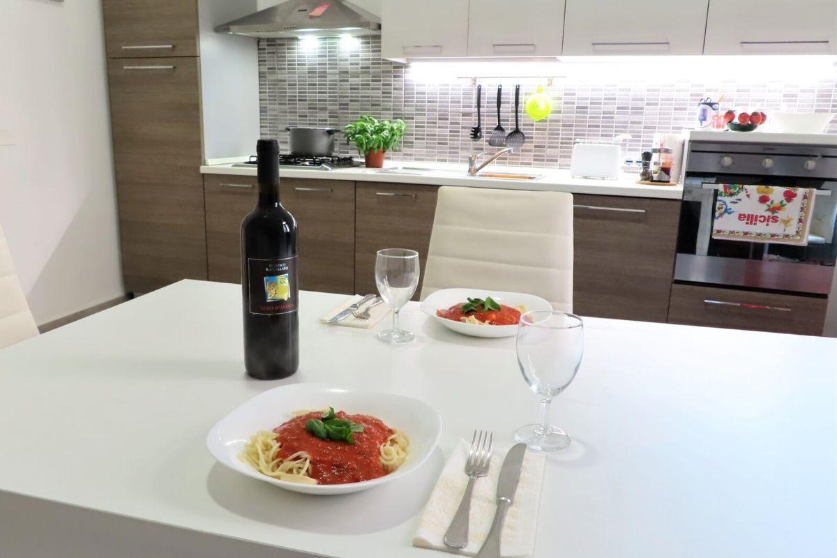 Noclegi u Polaków na Sycylii - kolacja
