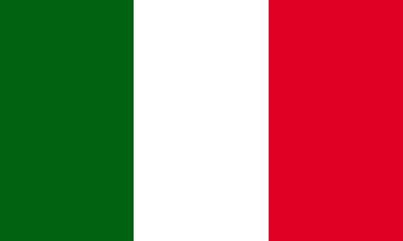 Noclegi u Polaków we Włoszech - flaga włoska