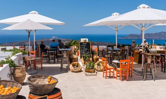 Grecka kuchnia - knajpka na Santorini