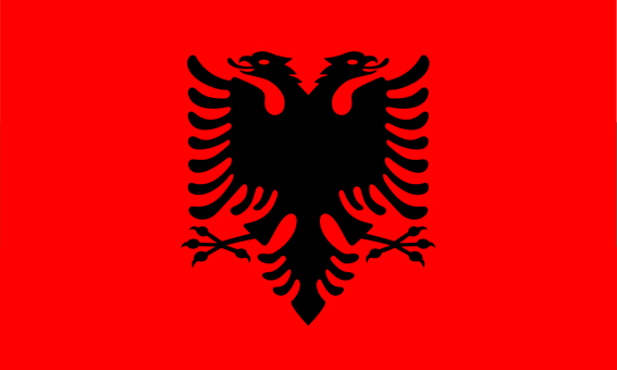 Flaga Albanii - Noclegi u Polaków